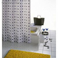 Штора для ванной комнаты Dоminо, цвет синий/голубой 180х200 см