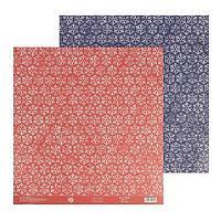 Бумага для скрапбукинга «Снежинки», 30,5 × 32 см, 180 г/м