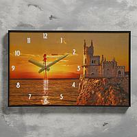 """Часы настенные, серия: Природа, """"Закат"""", 1 АА, плавный ход, 57х35х4 см"""