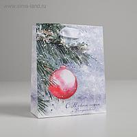 Пакет ламинированный вертикальный «С Новым годом и Рождеством», S 12 × 15 × 5.5 см