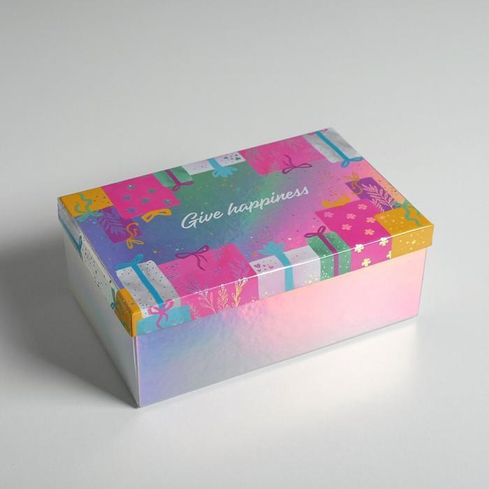 Набор иридисцентных коробок 10 в 1 «С Днем Рождения», 12 × 7 × 4 - 32.5 × 20 × 12.5 см - фото 7