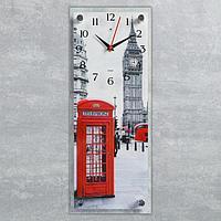 """Часы настенные, серия Город, """"Лондон рядом"""", плавный ход, 49.5х19.5 см"""