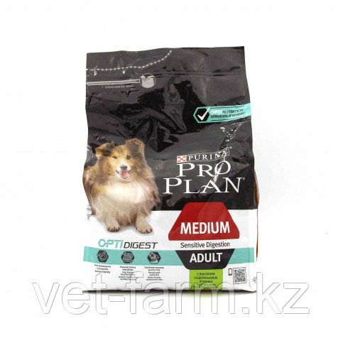 Pro Plan Medium Adult Sensitive Корм Для Собак Средних Пород, С Ягненком, 3 Кг