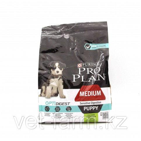 Корм Для Щенков Средних Пород Pro Plan Medium Puppy Sensitive , С Ягненком, 3кг