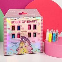 Ассорти для декора ногтей House of beauty, 21 бутылочка