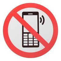 Наклейка знак 'Пользоваться телефоном запрещено', 18х18 см (комплект из 20 шт.)