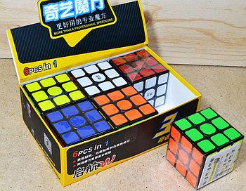 0933C Кубик Рубика  черные грани 3*3 6шт в уп, цена за уп.