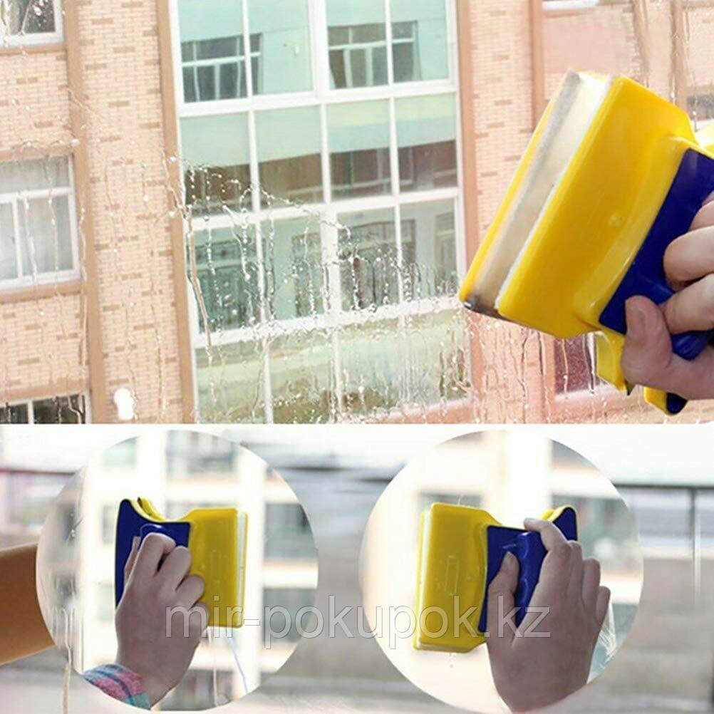 Магнитная щетка для мытья окон с двух сторон Отмывайка (для одинарных стекло пакетов)