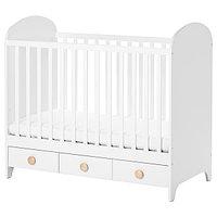 Кроватка детская ГУНАТ белый 60x120 см ИКЕА, IKEA