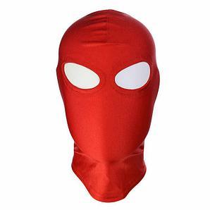 Красная маска с прорезями для глаз, спандекс