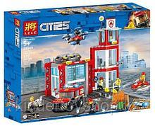 """Конструктор аналог лего 28049 Lele Cities """"Пожарное депо"""" аналог LEGO 60215, 537 деталей"""