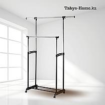 Вешалка для одежды двойная гардеробная Табыс EP 9098-1 (черный цвет), фото 3