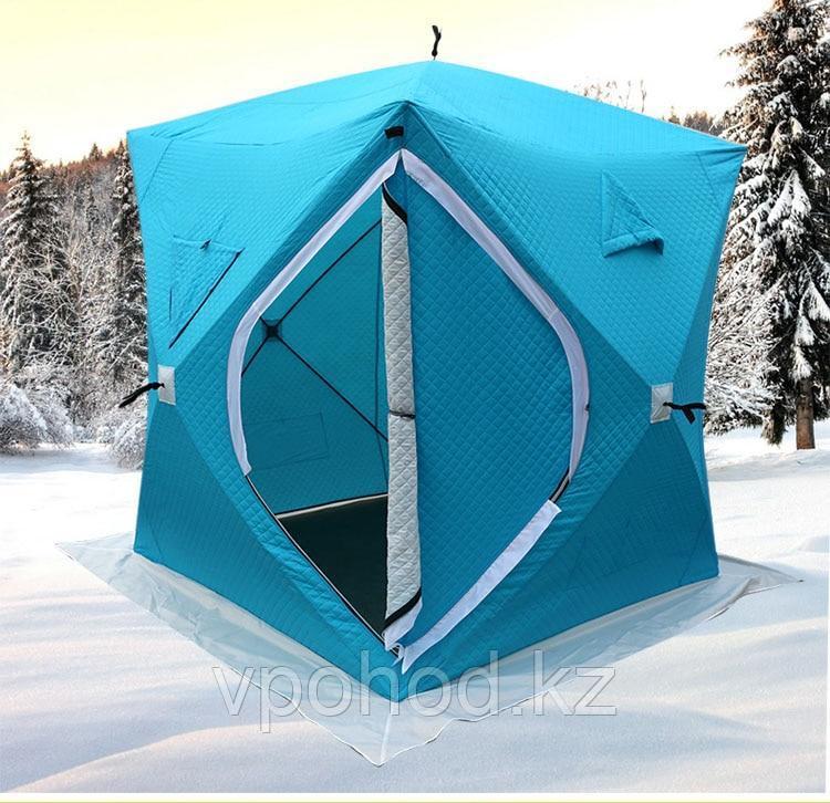 Палатка зимняя куб утеплённая 1626 - фото 1