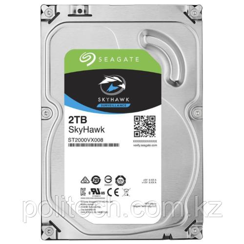 """Жесткий диск для видеонаблюдения 2Tb Seagate SkyHawk SATA3 3.5"""" 64Mb ST2000VX008. Диски выдерживают высокие"""