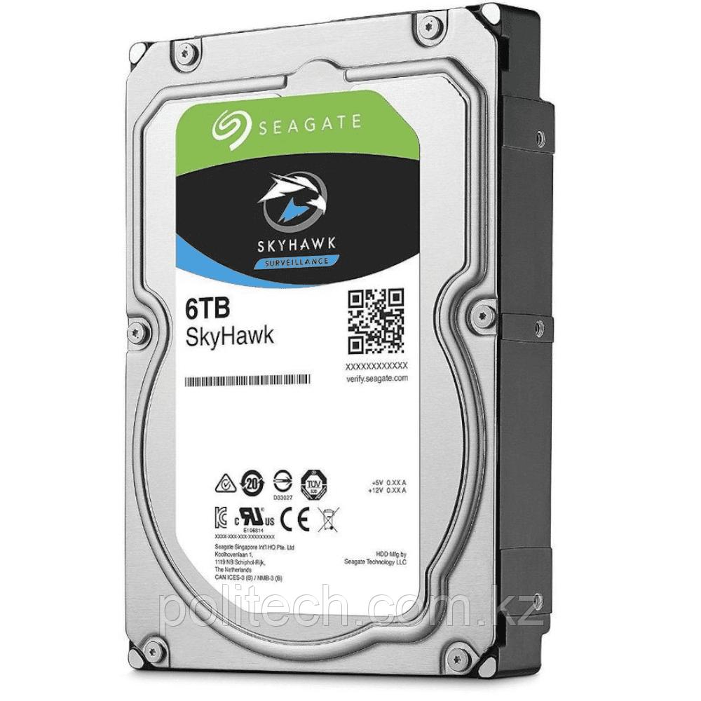 Жесткий диск для видеонаблюдения 6Tb Seagate Surveillance SkyHawk SATA 6G3.5 7200rpm 128Mb ST6000VX001.