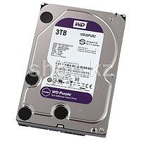 "Жесткий диск для видеонаблюдения HDD 3Tb Western Digital Purple SATA 6Gb/s 64Mb 3,5"" WD30PURZ Создан для"