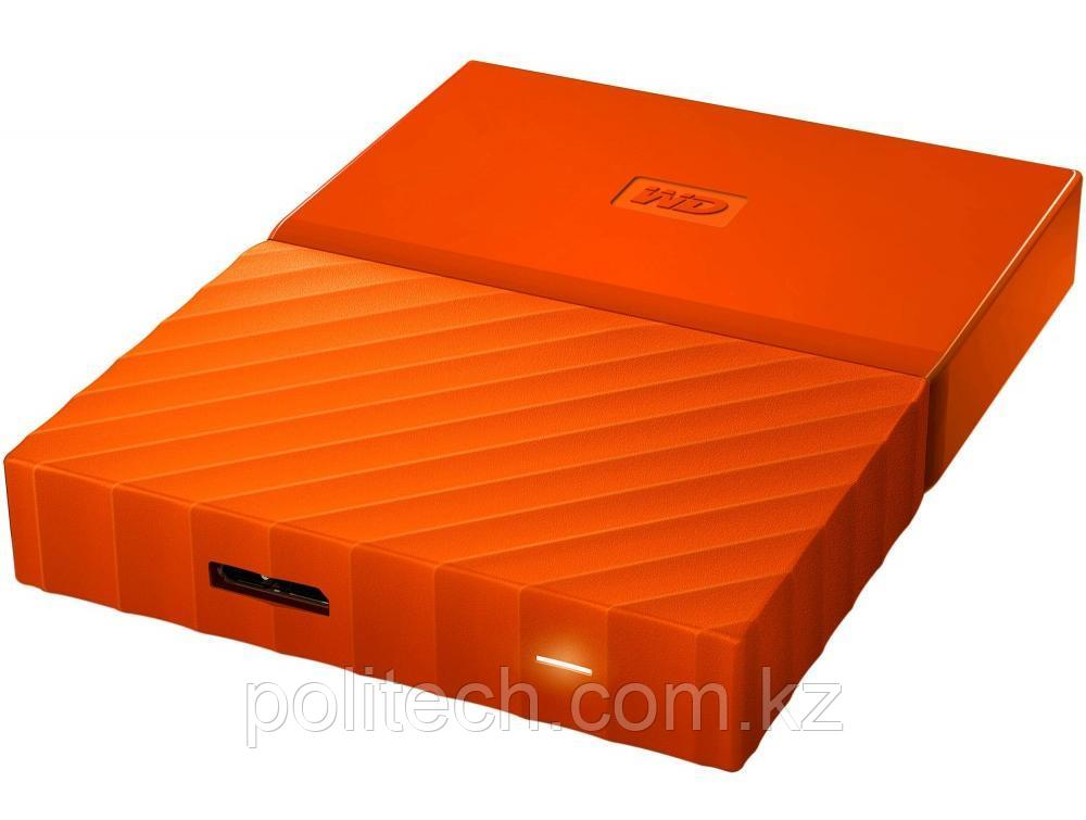 "Внешний HDD Western Digital 2Tb My Passport 2.5"" WDBLHR0020BOR-EEUE 2.5', USB 3.0. Толщина 12мм Цвет: Orange."