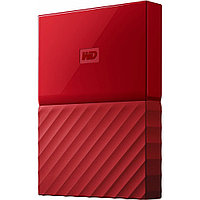 "Внешний HDD Western Digital 2Tb My Passport 2.5"" WDBLHR0020BRD-EEUE 2.5', USB 3.0. Толщина 12мм Цвет: Red."