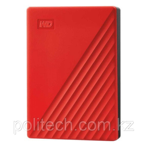 "Внешний HDD Western Digital 4Tb My Passport 2.5"" USB 3.1 Цвет: Красный WDBPKJ0040BRD-WESN"