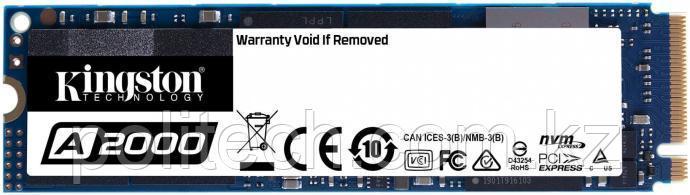 Твердотельный накопитель 500GB SSD Kingston A2000 SA2000M8/500G M.2 2280 NVMe SATA3 R2200MB/s W2000MB/s