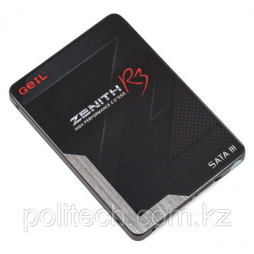 """Твердотельный накопитель 120GB SSD GEIL GZ25R3-120G ZENITH R3 2.5"""" SATAIII Чтение 550Mb/s, Запись 360MB/s."""