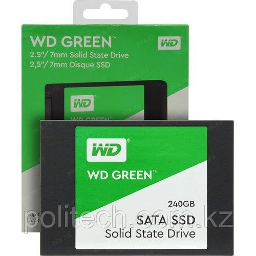 """Твердотельный накопитель 240GB SSD WD Серия GREEN 2.5"""" SATA3 R545Mb/s W465Mb/s Толщина 7мм WDS240G2G0A. Время"""