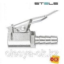 """Муфта быстросъемная 2 шт, для колесного ниппеля со штуцером """"елка"""" под шланг 8 мм. STELS"""