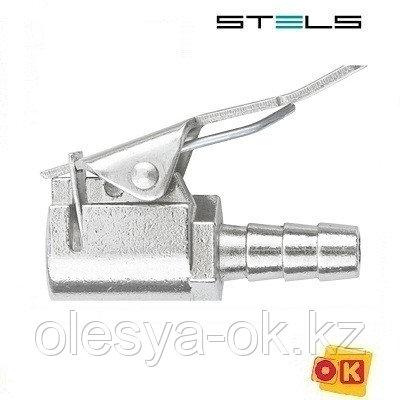 """Муфта быстросъемная 2 шт, для колесного ниппеля со штуцером """"елка"""" под шланг 8 мм. STELS, фото 2"""
