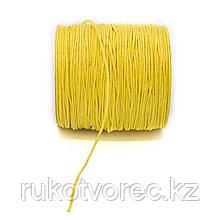 Вощеный шнур 1 мм жёлтый