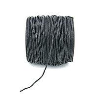 Вощеный шнур 1 мм чёрный