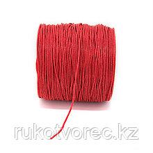 Вощеный шнур 1 мм красный