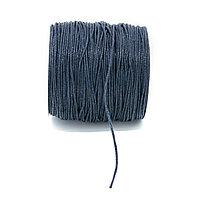 Вощеный шнур 1 мм синий