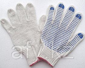 Рабочие перчатки трикотажные кругловязаные с ПВХ покрытием.