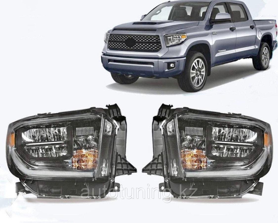 Альтернативная оптика (передние фары тюнинг) на Toyota Tundra 2014-2020 г.в.