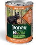 Monge Bwild (Утка) 400г беззерновой влажный корм для собак мелких пород.Grain Free Mini Adult Anatra