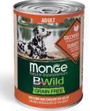 Monge Bwild (Индейка) 400г беззерновой влажный корм для собак Grain Free All Breeds Adult Tacchino, фото 1