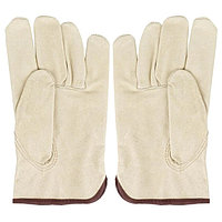 Рабочие перчатки утеплённые , кожаные