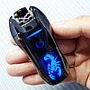 Электроимпульсная зажигалка со Скорпионом. Фирма LIGHTER в подарочной коробке.