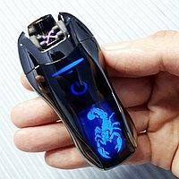 Электроимпульсная зажигалка со Скорпионом. Фирма LIGHTER в подарочной коробке., фото 1