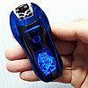 Электроимпульсная зажигалка THE BEAR, синяя. Фирма LIGHTER в подарочной коробке.