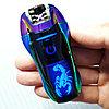 Электроимпульсная зажигалка со Скорпионом. Радужный. Фирма LIGHTER в подарочной коробке.