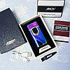 Вращающаяся электронная USB-зажигалка в подарочной коробке, радужная.