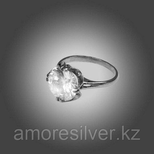 Кольцо Приволжский Ювелир из золоченного серебра, фианит 232399