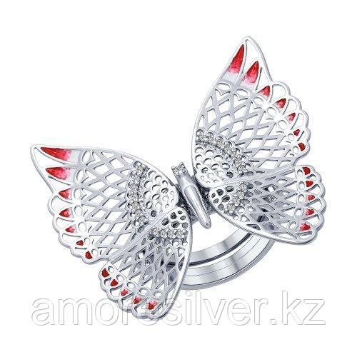 Кольцо SOKOLOV серебро с родием, эмаль 94012281