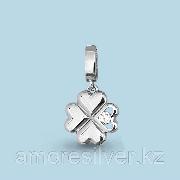 Подвеска Аквамарин серебро с родием, фианит 22925А