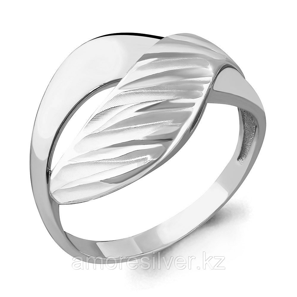 Кольцо Аквамарин серебро с родием, геометрия 54576