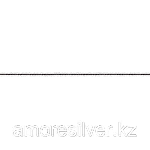 Цепь Адамант серебро с родием, без вставок, снейк круглый Ср925Р-105904045