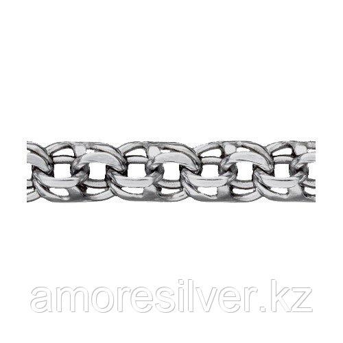 Цепь КУБАЧИ серебро с родием, без вставок, бисмарк ручной 5308060р