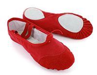 Чешки для танцев и гимнастики, детские, красные