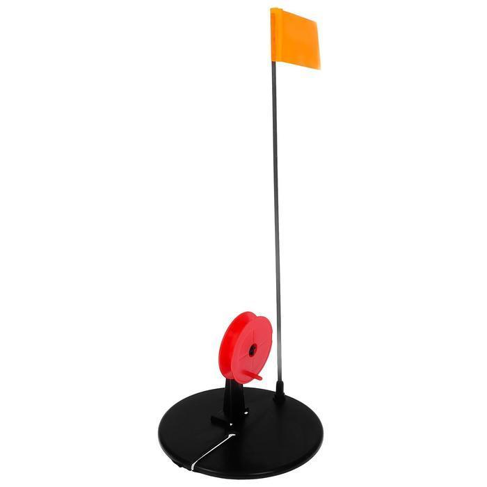 Жерлица с прямой стойкой, цвет чёрный с красной катушкой - фото 1